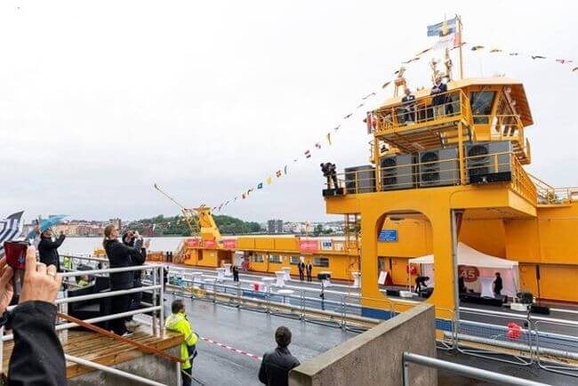 Sweden's largest hybrid-electric car ferry ready to enter operation