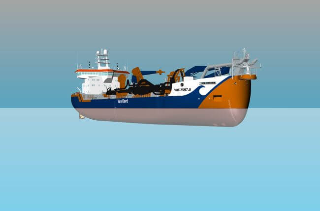 Van Oord strengthens dredging fleet with third new hopper