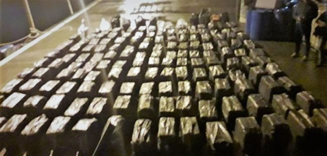 Cocaine Worth over $114 Million Seized from Vessel Located by CBP Air and Marine Operations