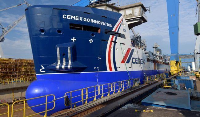 First Damen MAD3500 aggregates dredger launched at Damen Shipyards Galati