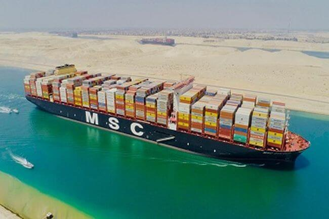 The World's Largest Container Vessel Transits the Suez Canal for the First Time