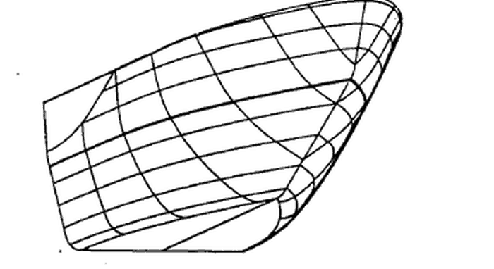Typical Wedge shaped bow