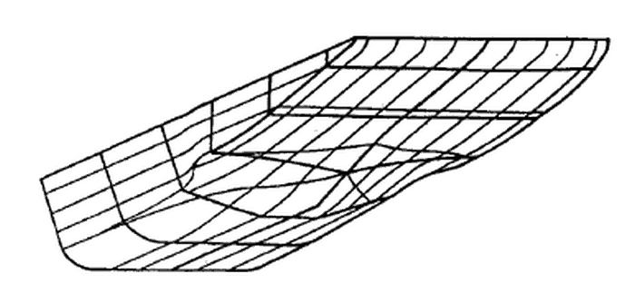 Typical square-shaped bow