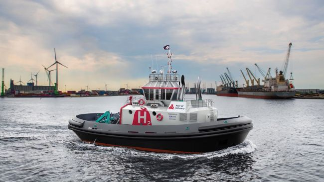 Hydrotug, the world's first hydrogen fueled tug