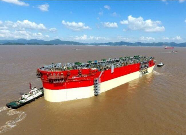 Energean Power FPSO Hull Floated Out Of The Cosco Shipyards' Dock
