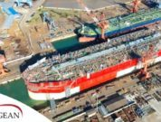 Energean Power FPSO Hull Floated Out Of The-Cosco Shipyards' Dock