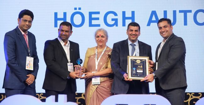 Hoegh Autoliners India wins MALA award for fifth consecutive year