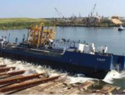 VT Halter Marine Launches First US-Flagged Offshore LNG Bunker ATB Barge For Q-LNG