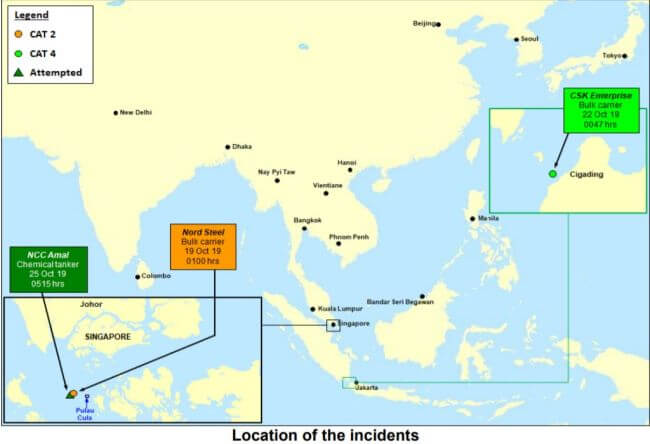 ReCAAP ISC three incidents in last week