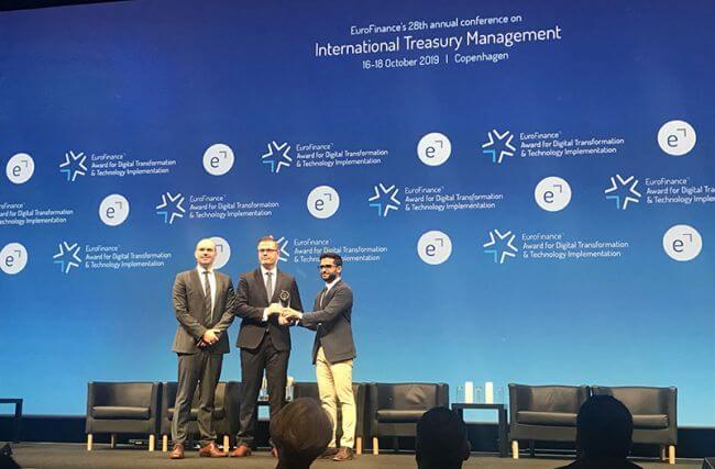 Wärtsilä wins EuroFinance Treasury Excellence Award for Digital transformation & technology implementation