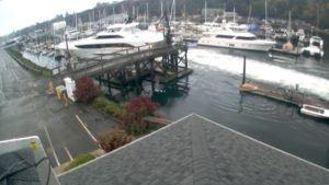 Yacht Slams In Dock