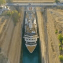the longest cruise ship to pass through corinth canal