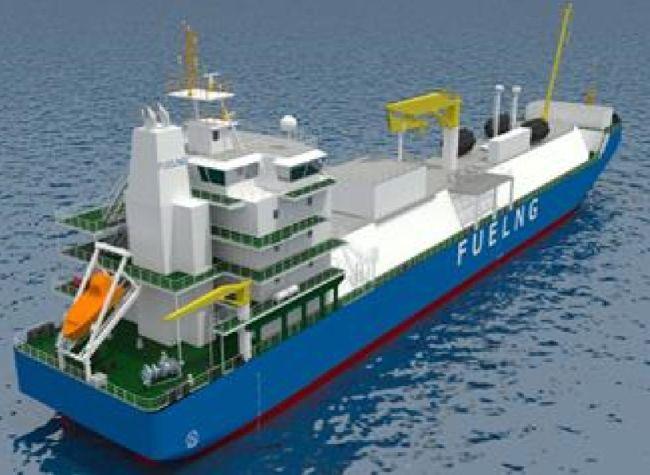 Fuel LNG Singapore first lng bunkering vessel kline