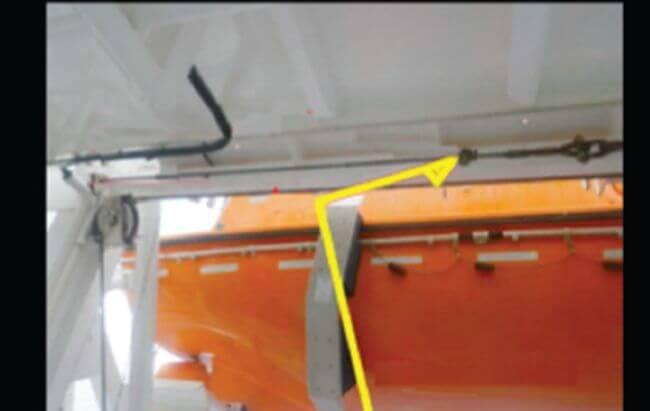 Life Boat Davit-Arm imbalance