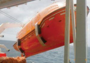 Life Boat Davit Arm imbalance