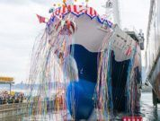 Mitsubishi_Christens & Launches Cargo-Passenger Ship For Tokai Kisen