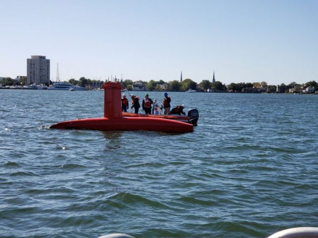 NOAA Ship Thomas Jefferson tests innovative DriX unmanned surface vehicle_