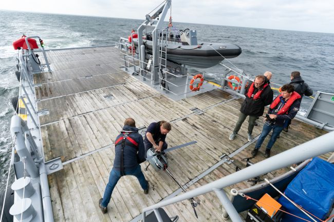Qualification test in North Sea