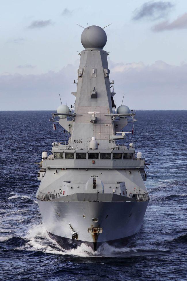 HMS Defeneder shadows Russian Task Group