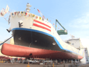 Launch Of World's First Liquefied Hydrogen Carrier SUISO FRONTIER