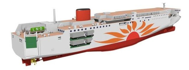 Mitsubishi Shipbuilding Signs Contract With MOL For First LNG-Fueled Ferry Built In Japan
