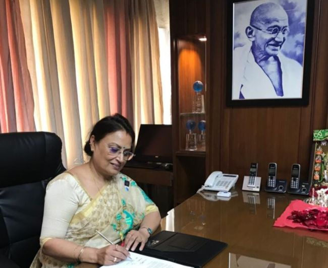 first woman at helm of india's largest shipping company