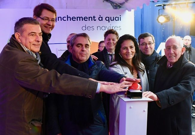 CMA CGM And Grand Maritime Dunkerque Inaugurate Electrical Connection Device