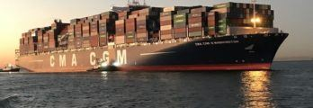 CMA CGM G. Washington_WebPic_Bay18 Container Bay Collapse