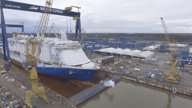 Carnival's Largest Cruise Ship Mardi Gras Floats Out At Meyer Turku Shipyard