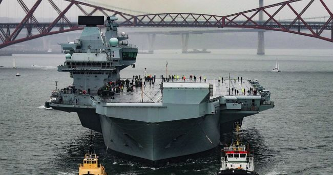 GE's Electric Propulsion Powered Royal Navy Aircraft Carrier Successfully Completes Sea Trials