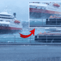Strong Winds Blow Away Cruise Vessel To Pier