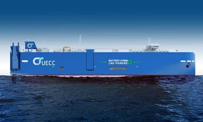 Steel Cutting For UECC's First Battery Hybrid LNG Powered PCTC