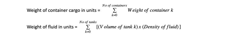 draft survey calculation