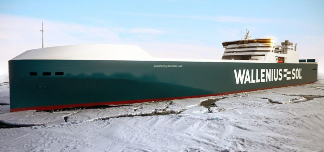 Ice Test Of The World's Largest LNG RoRo