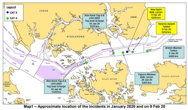 Incidents Involving Ships While Underway In The Eastbound Lane Of Singapore Strait