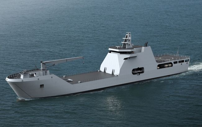 Keel-laying ceremony for Nigerian Navy landing craft