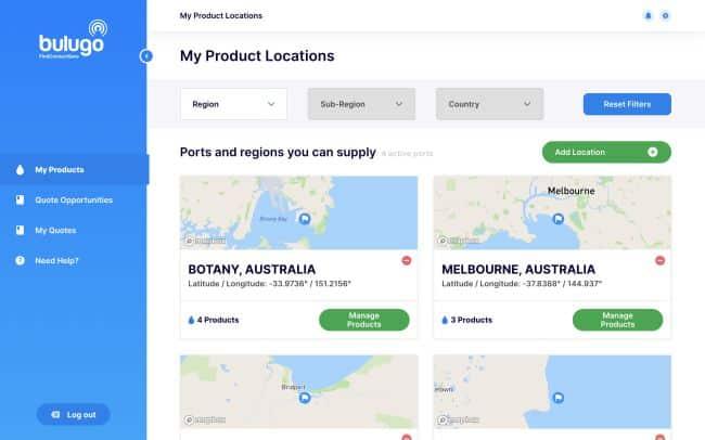 Port Supply locations screenshot