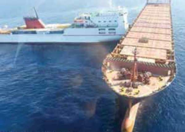 Real Life Incident Ships Wedged Together After Collision