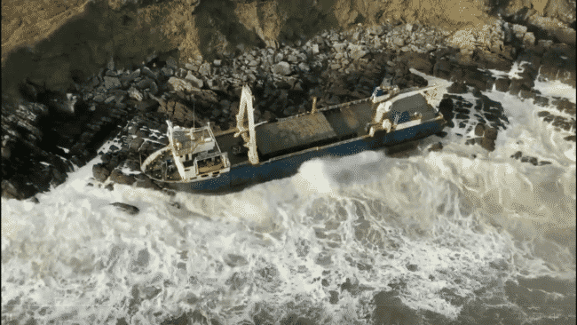 Ship Drifting Without Any Crew Since September 2019, Found Aground