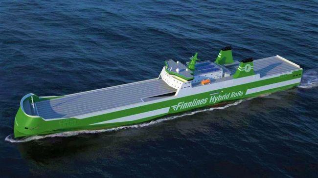 finnlines hybrid zero emission ro ro world's first