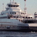 world's first auto transit ferry with passenger onboard