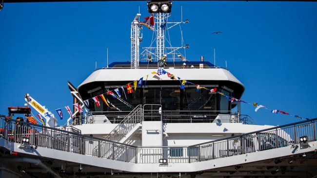 BC Ferries reveals names of two new Damen-built vessels in Victoria naming ceremony