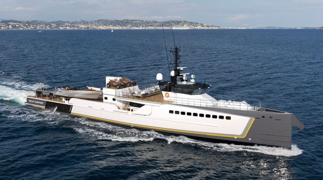 NEW YACHT SUPPORT VESSEL 'BLUE OCEAN' LAUNCHED