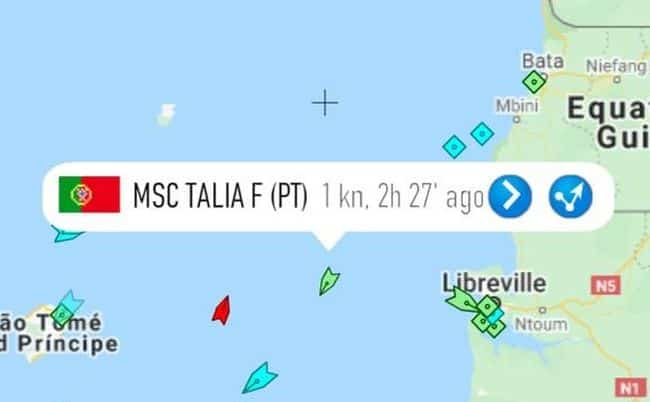 Seven Crew Abducted From Container Ship MSC TALIA In West Africa