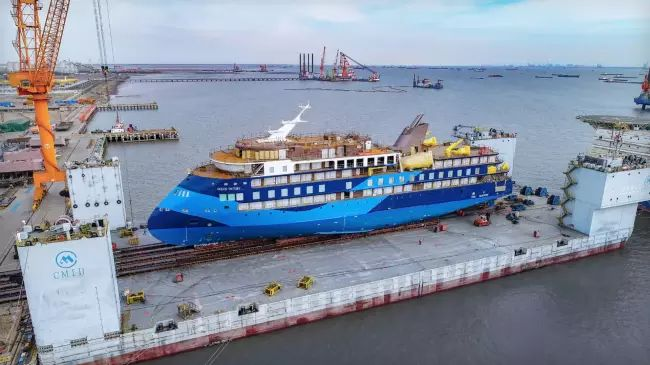 Ulstein Launches Third Sunstone Ships' Infinity 'Ocean-Victory'