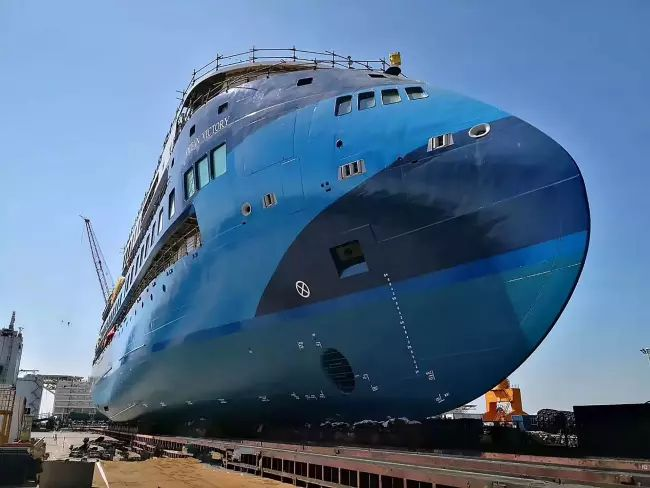 Ulstein Launches Third Sunstone Ships' Infinity 'Ocean Victory'