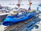 Ulstein Launches Third Sunstone Ships' Infinity 'Ocean Victory'__