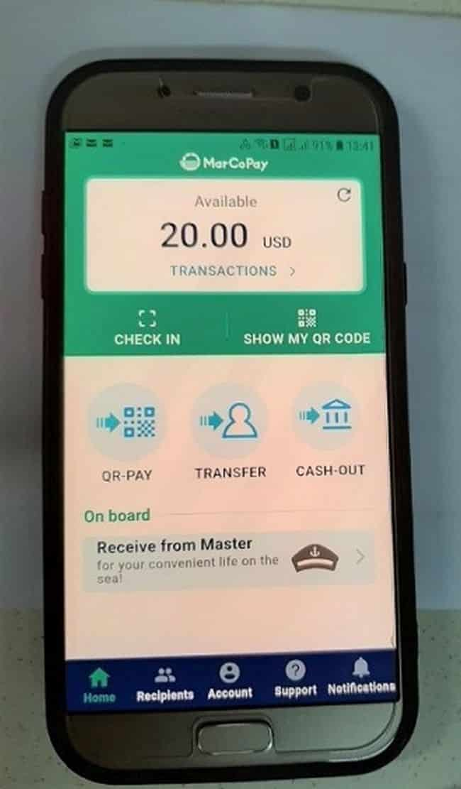 World's First Onboard Use of Digital Currency
