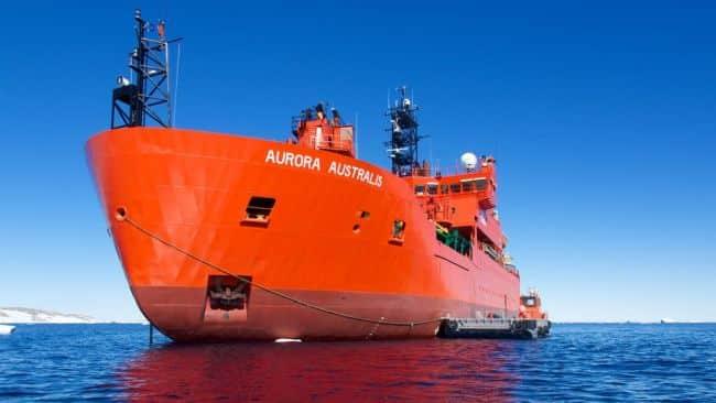Final Voyage Of Icebreaker Aurora Australis Departs_