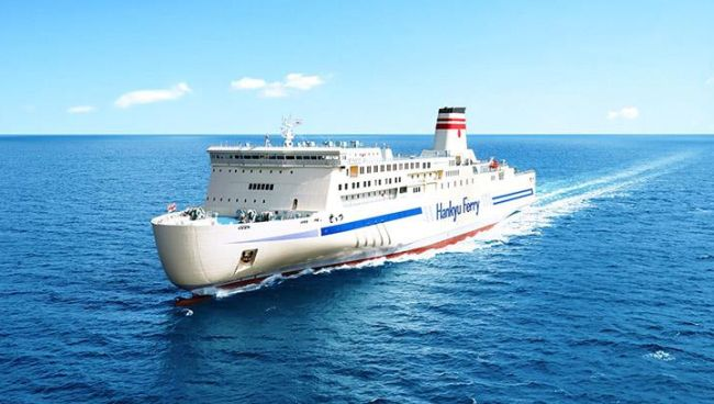 hankyuferry_settsu_Ultra-efficient and sustainable Japanese ferry with Wärtsilä solutions begins operations